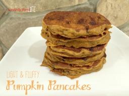 Light & Fluffy Pumpkin Pancakes